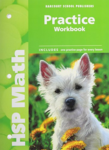 9780153567575: Harcourt School Publishers Math: Practice Workbook Student Edition Grade K