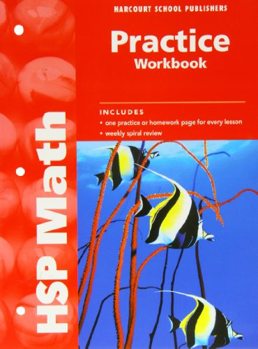 HSP Math Practice Workbook Grade 4 By HARCOURT SCHOOL