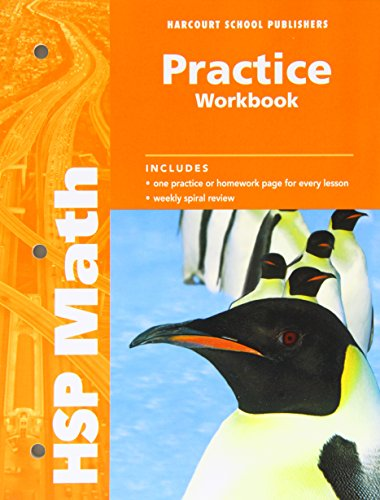 9780153567629: Harcourt School Publishers Math: Practice Workbook Student Edition Grade 5
