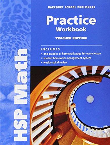 9780153567704: HSP Math: Practice Workbook, Teacher Edition, Grade 6