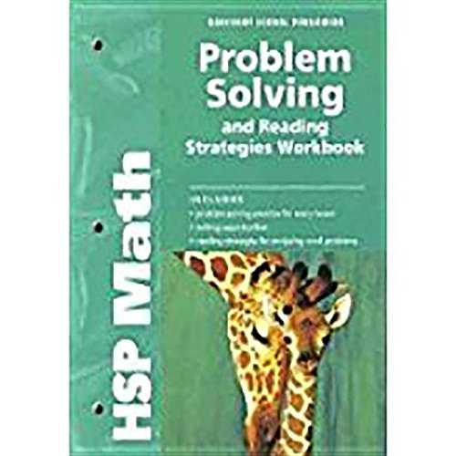 9780153567865: HSP Math: Problem Solving and Reading Strategies Workbook Grade 2