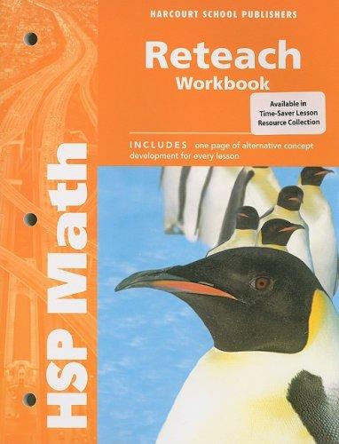 9780153568015: HSP Math: Reteach Workbook Grade 5