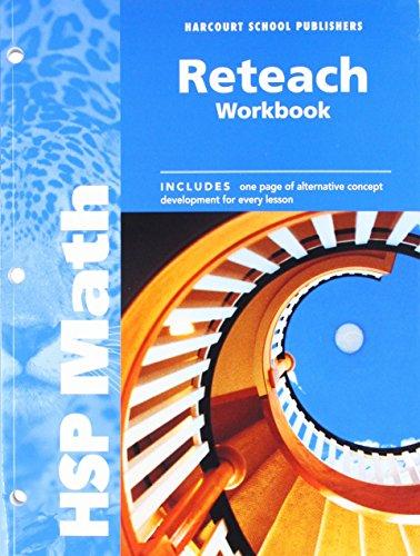 HSP Math: Reteach Workbook Grade 6: HARCOURT SCHOOL PUBLISHERS
