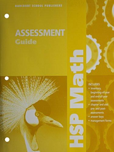 Harcourt School Publishers Hsp Math Teacher Edition Grade Abebooks