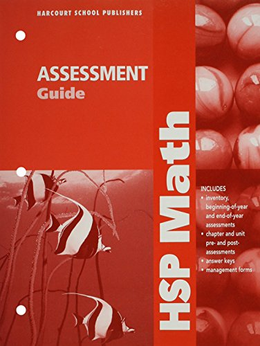 9780153568251: HSP Math: Assessment Guide Grade 4