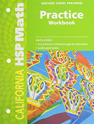 9780153569111: Harcourt School Publishers Math California: Practice Workbook Student Edition Grade 2