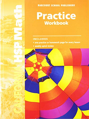 9780153569142 Harcourt School Publishers Math Practice