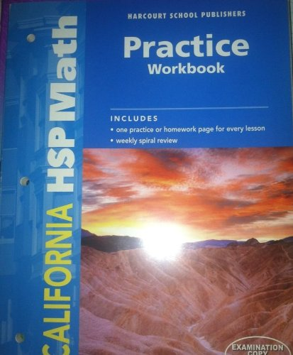 9780153569159 Harcourt School Publishers Math California