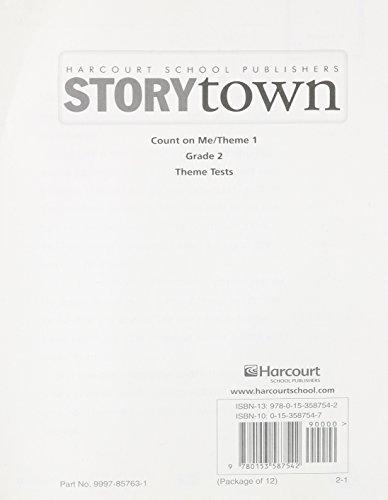 9780153587542: Storytown: Theme Test Student Booklet (12 Pack) Level 2-1 Grade 2