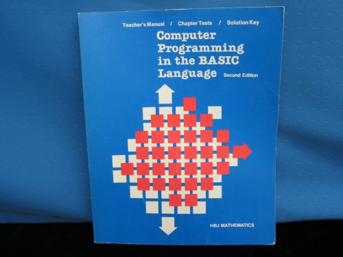 9780153590917: Computer Programming in the Basic Language