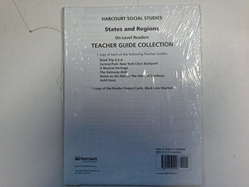 9780153594946: Harcourt Social Studies: On Level Reader Teacher Guide Collection Grade 4 States and Regions