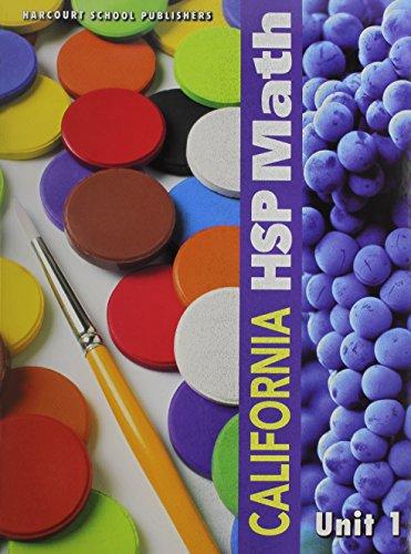 9780153599781: Harcourt School Publishers Math California: Student Edition Unit Book Collection Grade 1 2009