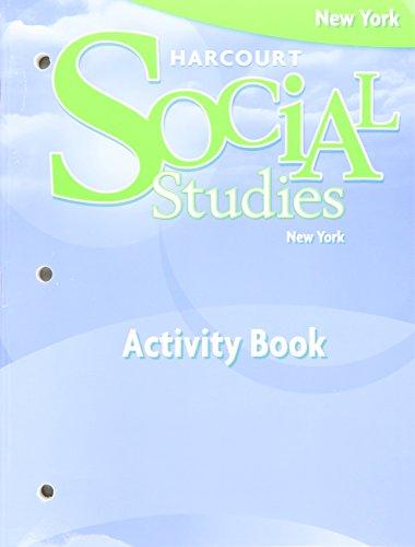 9780153605437: Harcourt Social Studies New York: Activity Book, Student Edition Grade 4