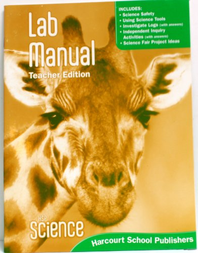 9780153610097: HSP Science © 2009: Lab Manual Teacher Edition Grade 1