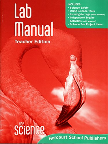 9780153610158: HSP Science © 2009: Lab Manual Teacher Edition Grade 4