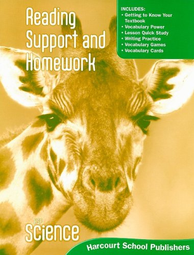 9780153610219: Harcourt Science: Reading Support and Homework Student Edition Grade 1