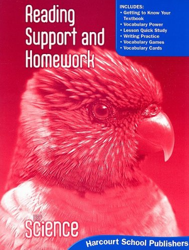9780153610233: Harcourt Science: Reading Support and Homework Student Edition Grade 2
