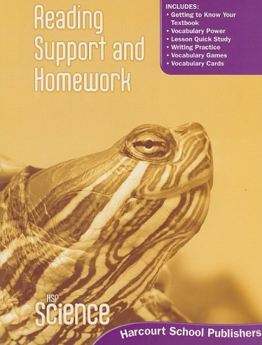 9780153610257: Harcourt Science: Reading Support and Homework Student Edition Grade 3
