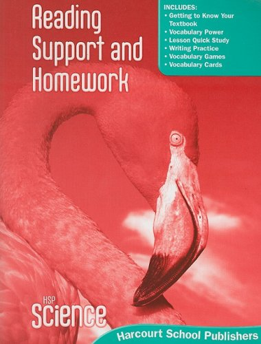 9780153610271: Harcourt Science: Reading Support and Homework Student Edition Grade 4