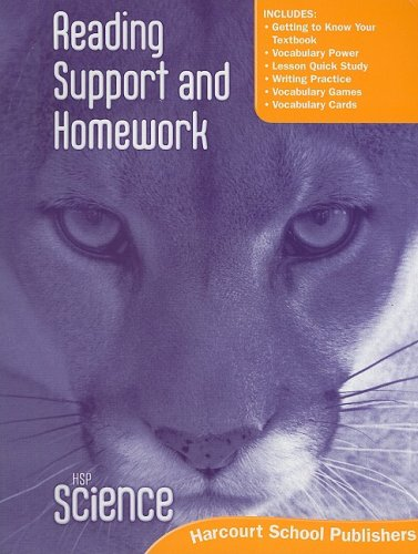 9780153610295: Harcourt Science: Reading Support and Homework Student Edition Grade 5