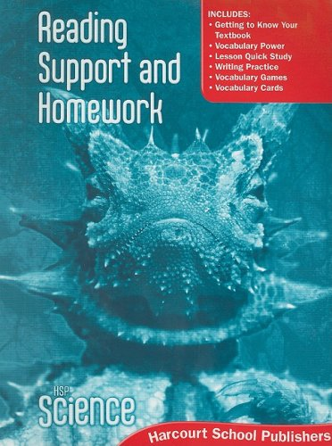 9780153610318: HSP Science © 2009: Reading Support and Homework Grade 6