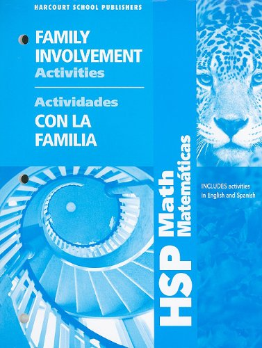 9780153649066: HSP Math Matematicas Family Involvement Activities/Actividades Con La Familia: Grade 6 (Hsp Math 09)