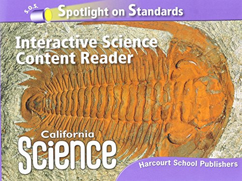 9780153653667: Harcourt School Publishers Science California: Interactive Science Cnt Reader Reader Student Edition Science 08 Grade 6