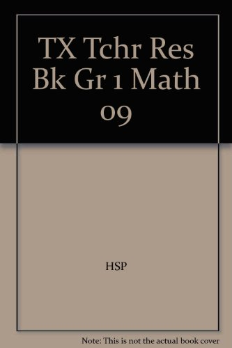9780153660269: Harcourt School Publishers Math Texas: Tchr Res Bk Gr 1