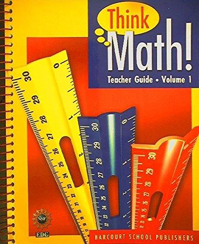 Teacher Guide Volume 1 Grade 4 Think
