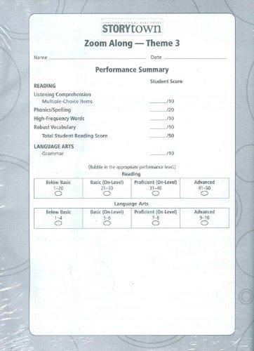 9780153684876: Storytown: Theme Test Student Booklet (12 Pack) Level 1-2 Grade 1