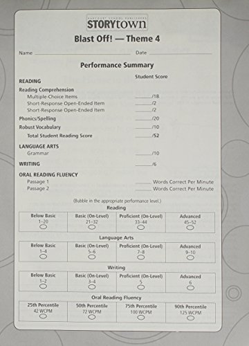 9780153684913: Storytown: Theme Test Student Booklet (12 Pack) Level 2-2 Grade 2