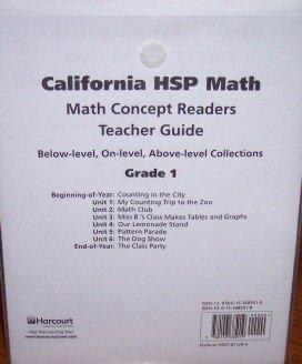 Math Concept Reader Collection Teachers Guide Grade: HSP