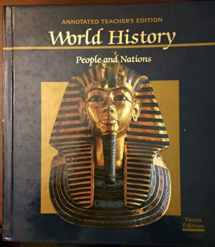 9780153734601: World History : People and Nations ; Annotated Teacher's Edition : Texas Edition