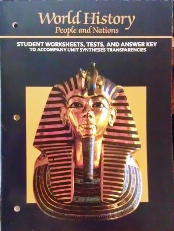 9780153734939: World History Student Worksheets, Tests, and Answer Key (World History People and Nations)