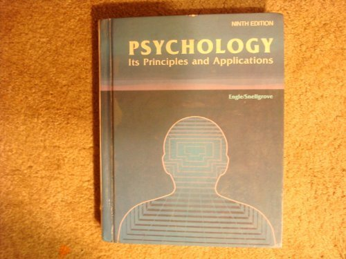 Psychology Its Principles and Applications: Thelburn Laroy Engle,