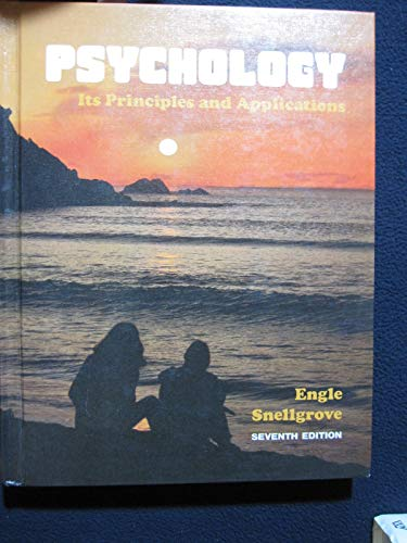 Psychology, Its Principles and Applications: Engle, Thelburn Laroy