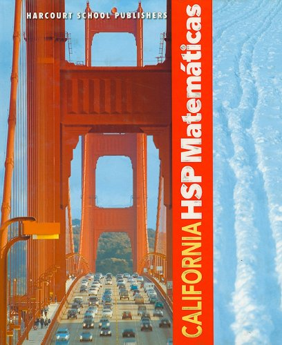 9780153750953: California HSP Matematicas (Harcourt School Publishers Spanish Math)