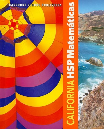 9780153750960: California Hsp Matematicas (Harcourt School Publishers Spanish Math)