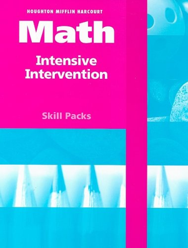 9780153770265: HSP Math: Intensive Intervention Student Skill Pack Grades K-1 2009