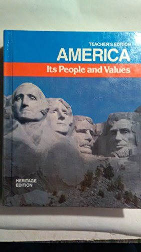 9780153777868: America, its people and values