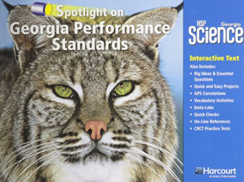 9780153783944: Harcourt School Publishers Science Georgia: Ga Spotlight/Performance Standard Student Edition Science 09 Grade 3 (Hsp Sci 09)