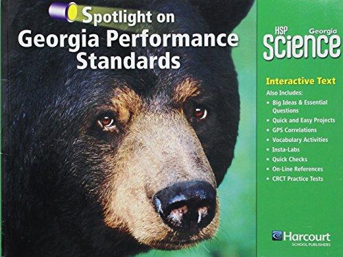 9780153783951: Harcourt School Publishers Science: GA Spotlight/Performance Standard Student Edition Science 09 Grade 4