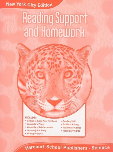 9780153813924: Harcourt Science New York: New York City Reading Support and Homework Student Edition Grade 5