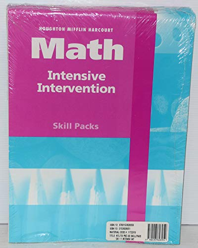 9780153828959: HSP Math: Intensive Intervention Student Skill Pack Grades K-1 2009