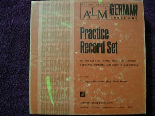 9780153838903: A-L-M German, Practice Record Set, Level One 15 records