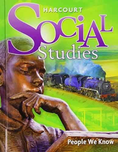 9780153858833: Harcourt Social Studies: Student Edition Grade 2 People We Know 2010