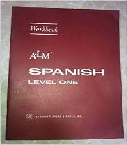 9780153890970: ALM Spanish Level One Workbook