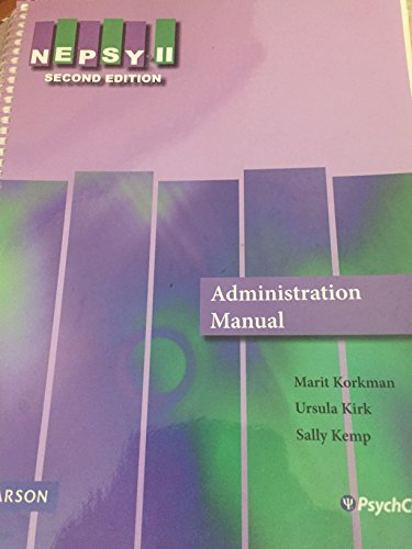 9780154234353: NEPSY II, Second Edition (Administration Manual)