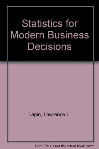 9780155000049: Statistics for Modern Business Decisions