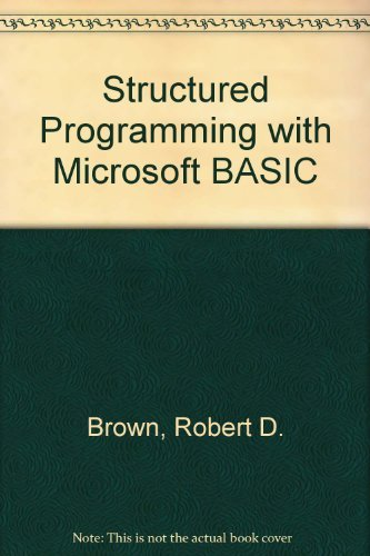 9780155000186: Structured Programming with Microsoft BASIC